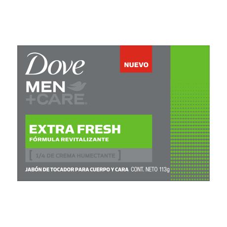 Dove Men+Care Jabón en barra para cuerpo y cara Extra Fresh 113g