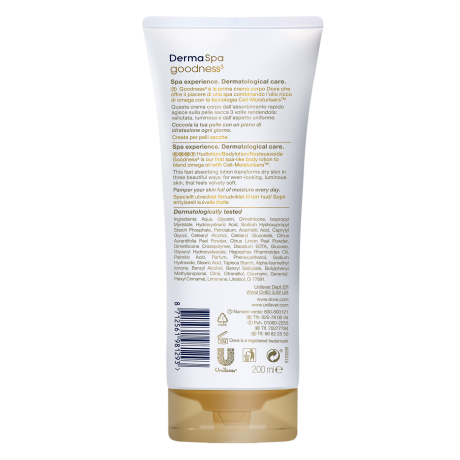 PNG - Dove_Lotion Goodness 3_Tube_FOP and BOP _200ML 6x_8712561981378_NL