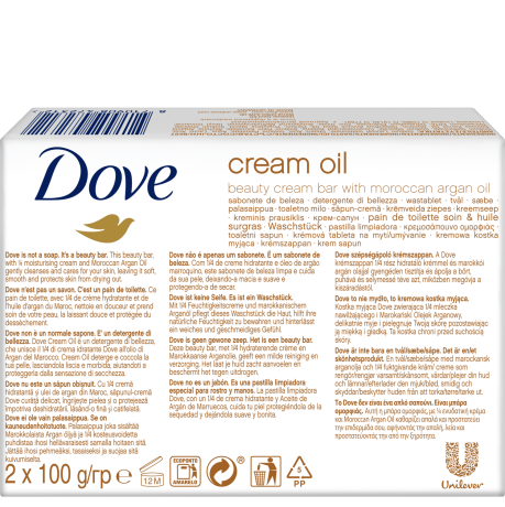 PNG - Dove Barsoap Cream & Oil BOP 2x100G 24x 8710908472312 NL