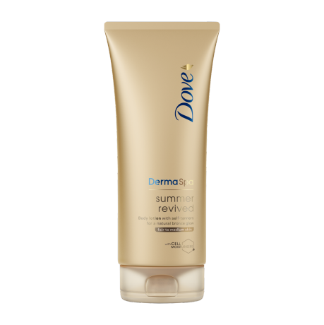 Dove DermaSpa Summer Revived lys til medium 200ml