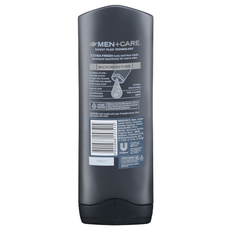 DOVE MEN_BODY WASH_EXTRA FRESH_BACK_400ML