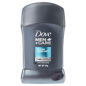 Dove Men+Care Clean Comfort Antiperspirant Stick 40g