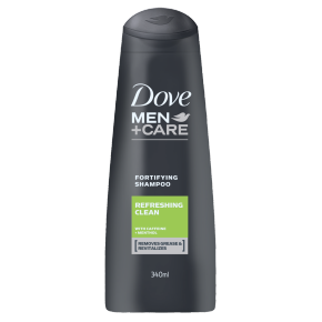 Dove Men+Care Fresh Clean Fortifying Shampoo 340ml