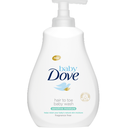 Baby Dove Hair To Toe Baby wash Sensitive Moisture 400ML