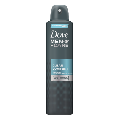 Dove Men+Care antyperspirant w aerozolu Clean Comfort 250ml
