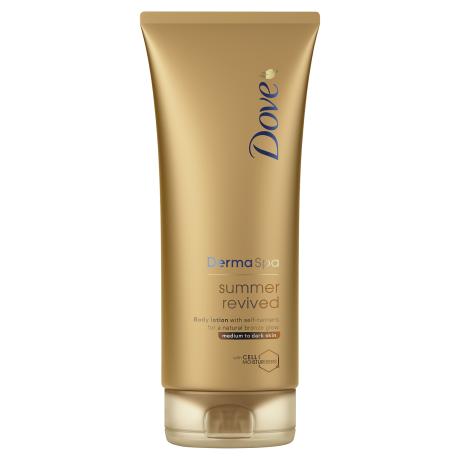 Dove Balsam do ciała Dove DermaSpa z samoopalaczem Summer Revived – średnia i ciemna karnacja 200ml