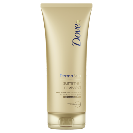 Dove Balsam do ciała DermaSpa z samoopalaczem Summer Revived – jasna i średnia karnacja 200ml