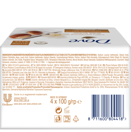 PNG - Dove Cream bar purely shea butter BOP 4x100g 8711600804418 RO