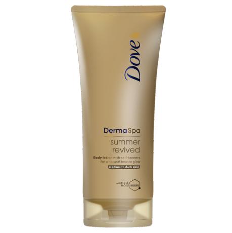 Dove DermaSpa Loção de corpo Summer Revived para Pele média a escura 200ml