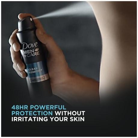 Dove Men+Care Stain Defense Dry Spray Antiperspirant Deodorant Cool 3.8 oz application