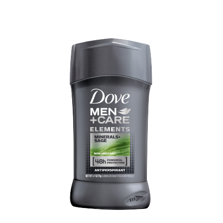 Dove Men+Care Elements Minerals + Sage Antiperspirant Deodorant Stick 2.7 oz front