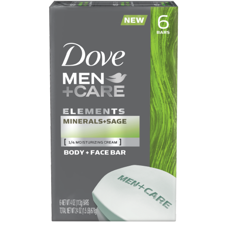 Dove Men+Care Elements Minerals + Sage Bar 6x4 oz