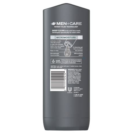 PNG - Dove Men+Care Deep Clean Body and Face Wash 13.5 oz