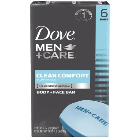 Dove Men+Care Clean Comfort Body & Face Bar 6pk