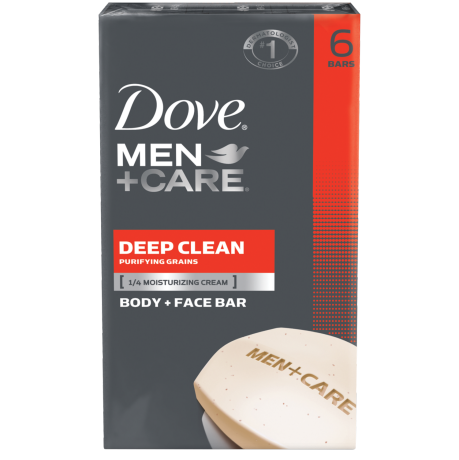 Dove Men+Care Deep Clean Body and Face Bar 6pk