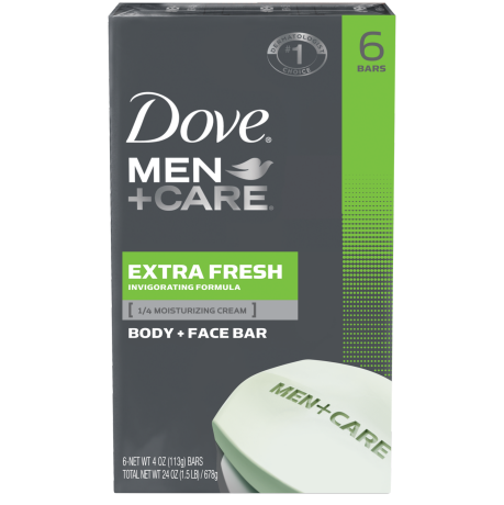 Dove Men+Care Extra Fresh Body & Face Bar 6pk