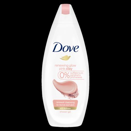 Gel de duș cu argilă roz Dove Renewing Glow 250ml