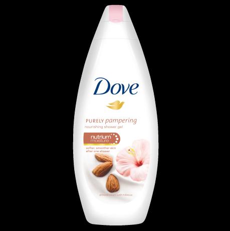 Dove Purely Pampering Almond Cream hranljivi krem gel za tuširanje 250ml