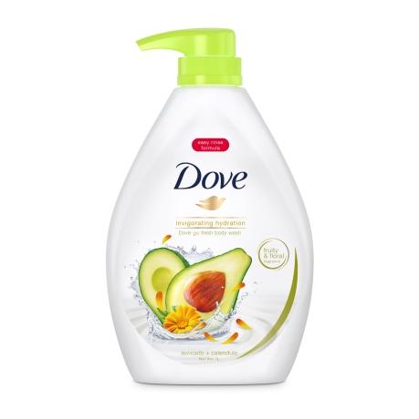 Dove Go Fresh Invigorating Body Wash Avocado Calendula 1L