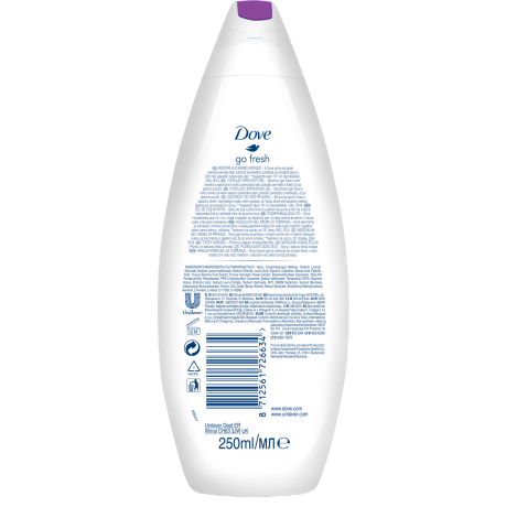 PNG - Dove Go Fresh Rebalance shower gel with plum and sakura blossom scent