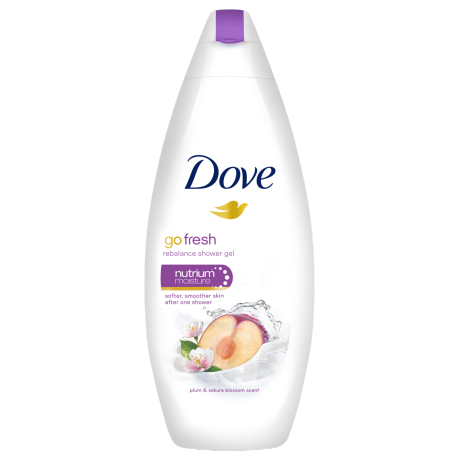Dove Go Fresh Rebalance Plum and sakura blossom scent gel krema za prhanje 250ml