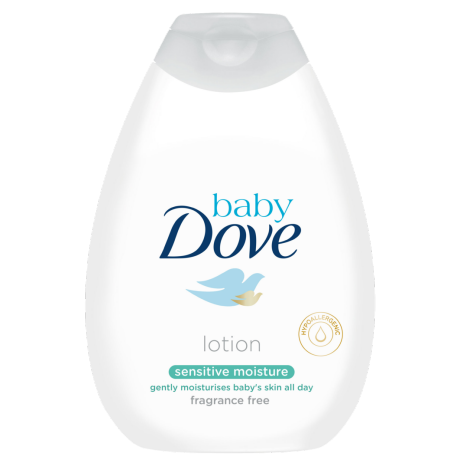 Baby Dove Loción corporal Sensitive sin fragancia 400ml