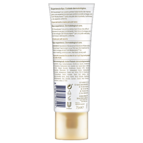 Dove_DermaSpa Hand treatment Goodness3_TUBE_BOP 75 ML_8712561977494_ES