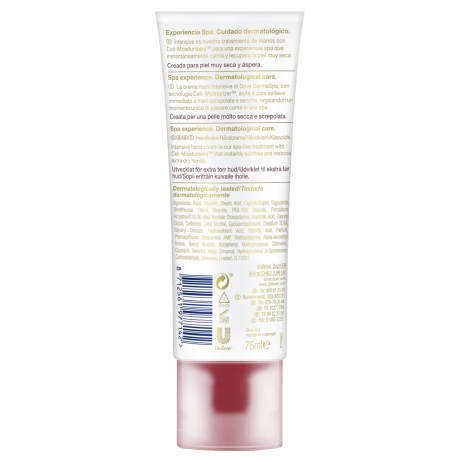 Dove DermaSpa Hand treatment Intensive_TUBE_BOP_75ML_8712561977142_ES