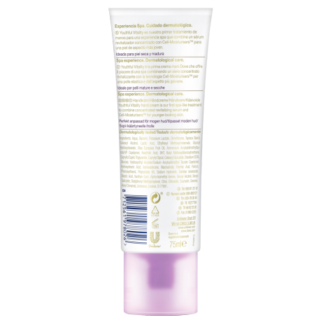 Dove DermaSpa Hand treatment Youthful Vitality_TUBE_BOP_75ML_87125619