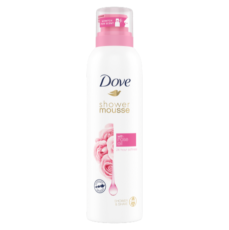 Dove Rose Oil Shower Mousse 200ml