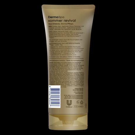 PNG - Dove DermaSpa Sommer Revival Body Lotion für mittlere bis dunkle Haut