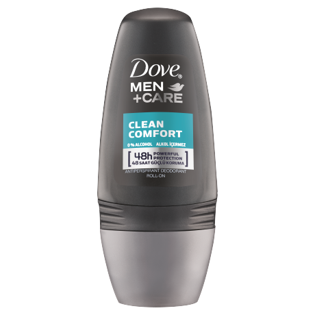 Dove Men Deodorant Roll On Clean Comfort 50ml