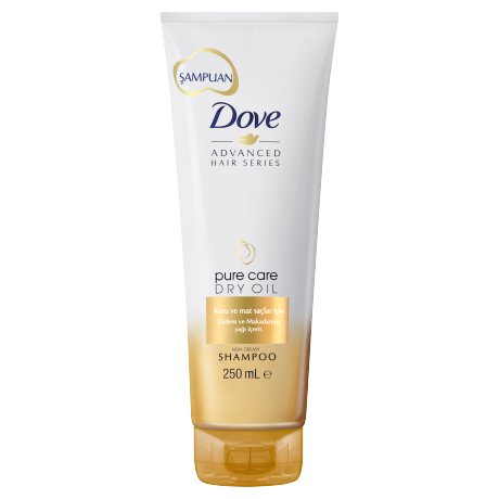 Dove Şampuan Advanced Hair Series Pure Care Dry Oil 250ml