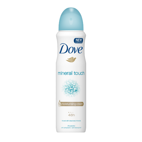 Dove Mineral Touch spray déodorant 150 ml