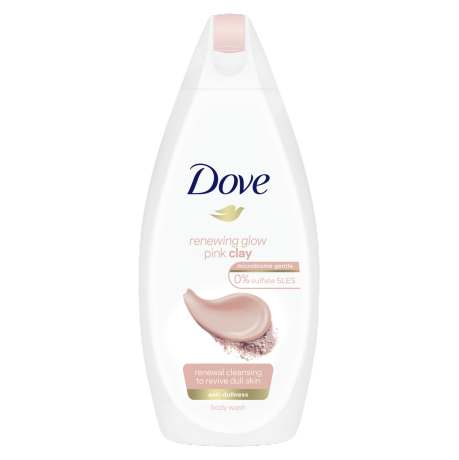 Dove Renewing Glow Pink Clay Body Wash