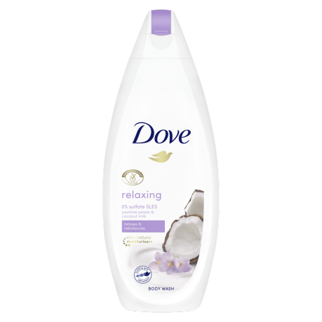 Dove Relaxing Body Wash Jasmine Petals and Coconut Milk 225ml