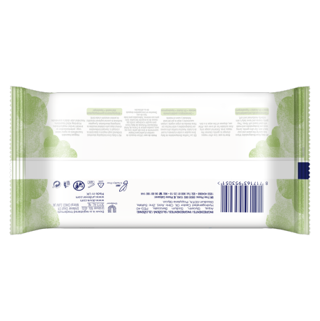 PNG - Baby Dove SKIN WIPES Biodegradable Wipes 75