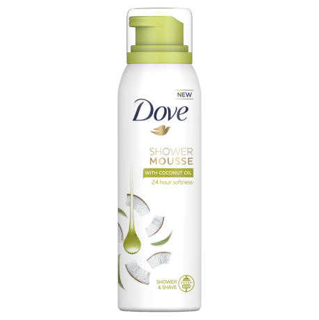 Dove Coconut Oil Shower and Shave Mousse 200ml