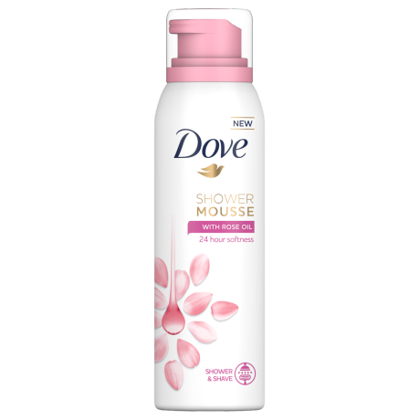 Dove Rose Oil Shower and Shave Mousse 200ml
