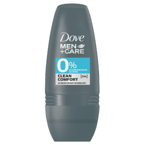 Dove Men+Care 0% Aluminium Clean Comfort Deodorant Roll-on 50ml