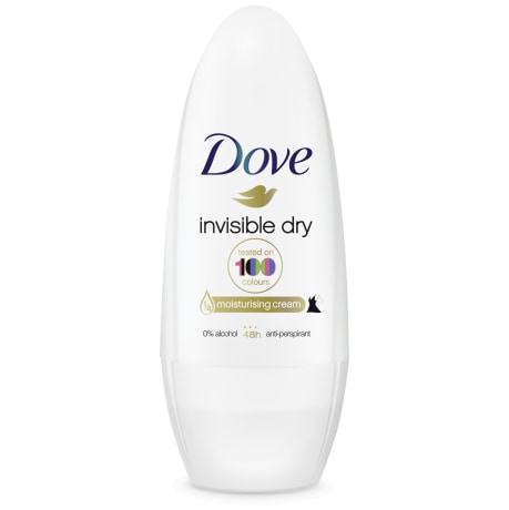 Dove Invisible Dry Roll-on Antiperspirant Deodorant 50ml
