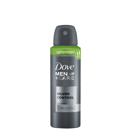 Dove Men+Care Silver Control Compressed Antiperspirant 125ml