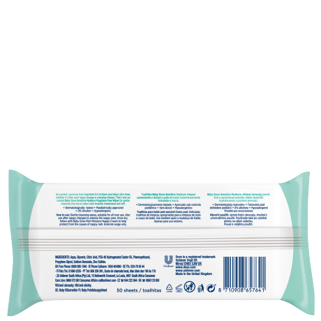 PNG - Baby Dove Sensitive Moisture Wipes 50 Sheets BOP