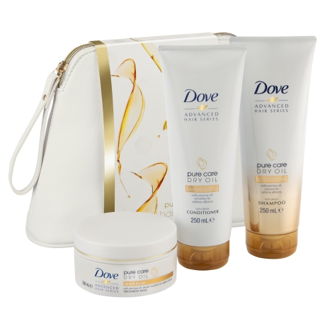 Dove Pure Care Dry Oil Washbag Gift Set