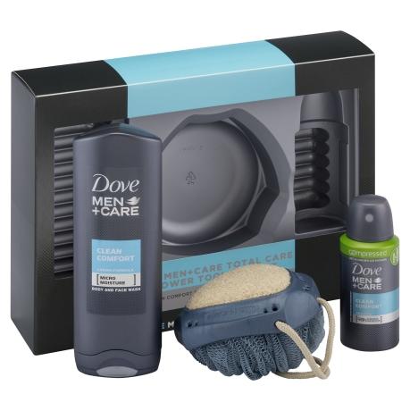 Dove Men+Care Total Care Shower Tool Men's Gift Set