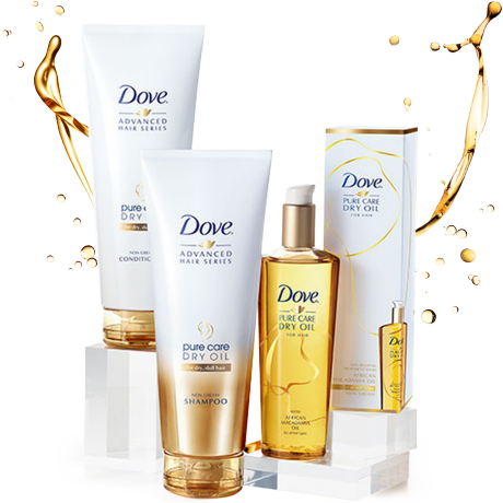 Dove Pure Care Dry Oil termékcsalád
