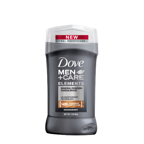 Dove Men+Care Elements Mineral Powder + Sandalwood Deodorant Stick 3.0 oz