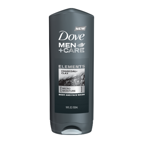Dove Men+Care Elements Charcoal + Clay Body Wash 18 oz