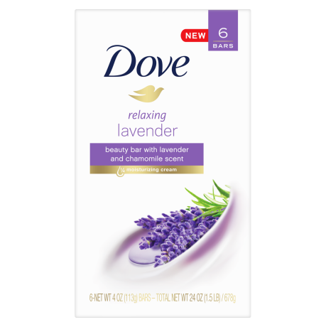 Dove Purely Pampering Relaxing Lavender Beauty Bar 6 bar 4 oz