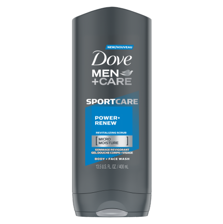 Gel douche corps + visage Men+Care SPORTCARE Power + Renew 400 mL